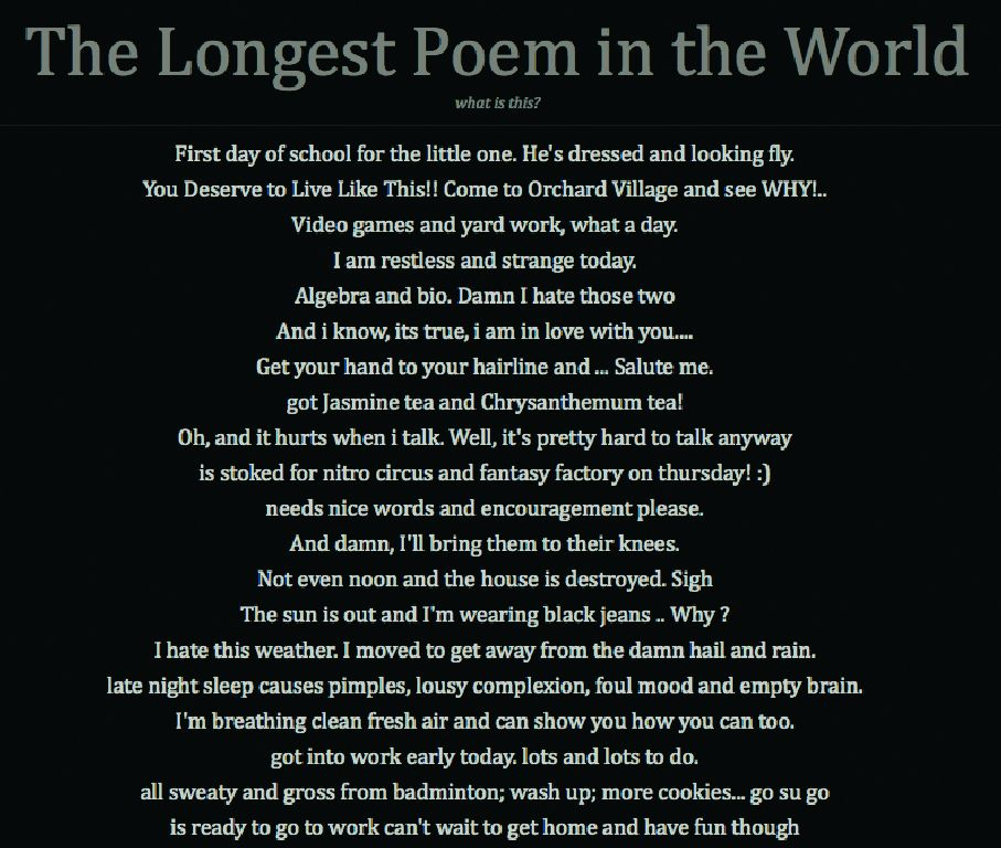 a poem on the first world First world problems thu, 05/30/2013 136 reads for this poem featured poem when i was a kid jae when i was a kid, i thought the world was like the one in the.