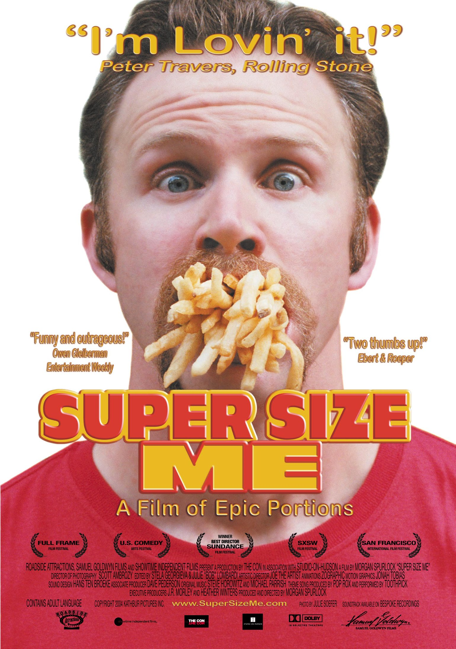 super size me by morgan spurlock essay Super sized essay 30 days of hell super size me (2004) directed by morgan spurlock is a documentary among epic proportions rarely does one come into contact with a film, specifically a documentary that carries as much weight as spurlock's 30-day hellish biopic as told on the silver screen.